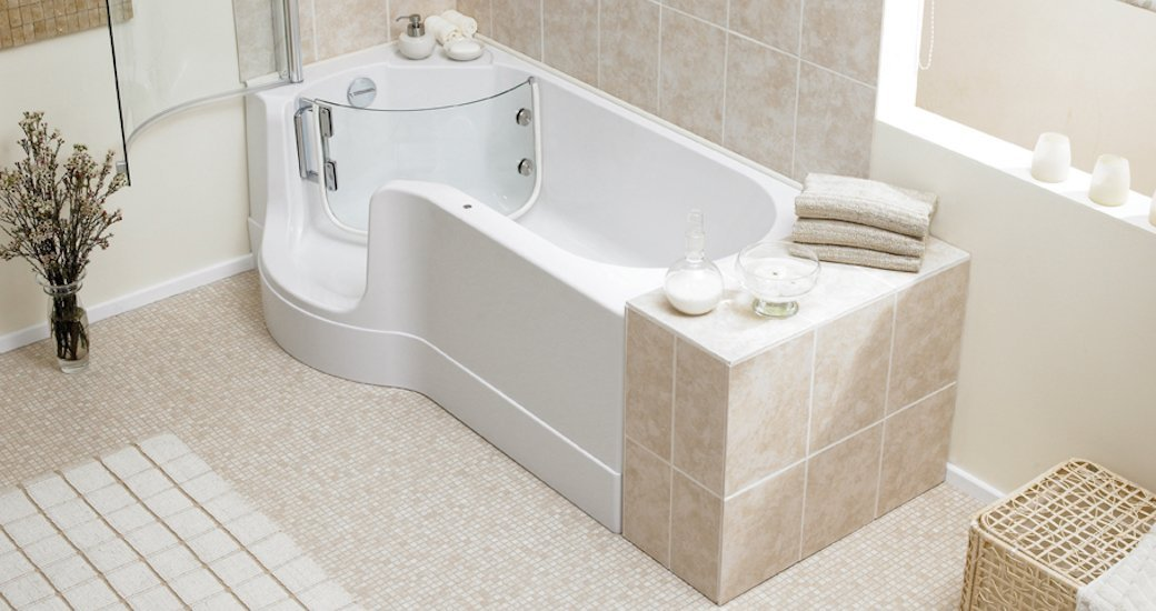 5 best walk in bathtubs oct 2018 bestreviews for Handicap baths