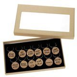 Juvale Natural Cork Wine Glass Charms