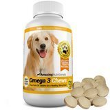 Amazing Nutritionals Omega-3 Fish Oil Chewable Tablet for Dogs