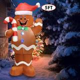 Joiedomi 5-Foot Self-Inflatable Gingerbread Man