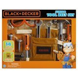 Jakk Pacific Black + Decker Junior 14 Piece Toy Tool Belt Set