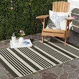 Safavieh Courtyard Collection Black and Bone