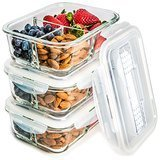 Prep Naturals Glass Meal Prep Food Storage Containers, 5 Pack