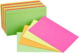 "AmazonBasics 3 x 5"" Ruled Neon Index Flash Cards, 300-Count"
