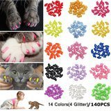 JOYJULY Soft Cat Nail Caps, 140 pieces