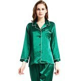 Lonxu Women's Satin Pajama Set