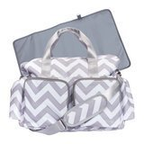 Trend Lab Chevron Deluxe Duffel Diaper Bag