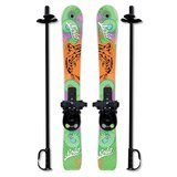 Sola Winnter Sports Kid's Beginner Snow Skis and Poles