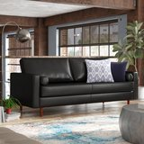 Trent Austin Design Bombay Leather Square Arms Sofa
