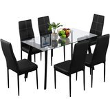 Bonnlo Modern 5 Pieces Dining Table Set