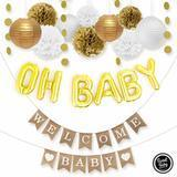 Sweet Baby Co. Neutral Baby Shower Decorations Kit