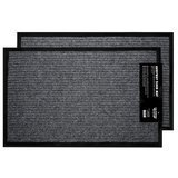 California Home Ribbed Entrance Mat with Rubber Backing