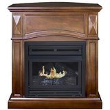 "Comfort Glow Kozy World 36"" Compact Freestanding Fireplace"