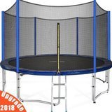 Zupapa 2018 Upgraded 15' Trampoline with enclsure