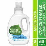 Seventh Generation Concentrated Laundry Detergent, Free & Clear Unscented