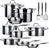 Duxtop 17-Piece Professional Stainless Steel Cookware Set