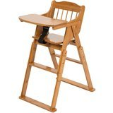 Elenker Wood Baby High Chair with Tray