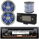 JVC In-Dash Marine Audio Bundle
