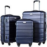 Coolife 3-Piece Luggage Set