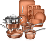 Gotham Steel 15-Piece Hammered Copper Collection