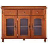 Kings Brand Furniture Penrose Wood with Glass Doors Sideboard
