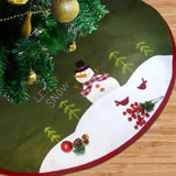 Lulu Home Snowman Christmas Tree Skirt