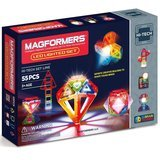 Magformers Light Show 55-Piece Magnetic Construction Set