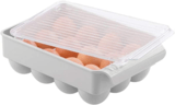 mDesign Stackable Egg Tray Holder
