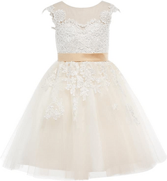 Miama Lace Tulle Flower Girl Dress