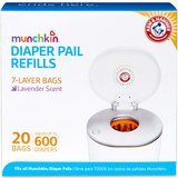 Munchkin Arm & Hammer Diaper Pail Snap, Seal and Toss Refill Bags