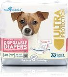 Paw Inspired 32-count Disposable Dog Diapers