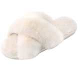 Parlovable Cross Band Furry Slippers