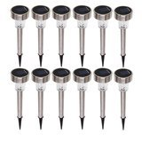Sogrand Outdoor Stainless Steel Solar Lights, 12-Pack