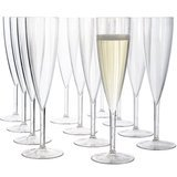US Acrylic Plastic 5-oz Champagne Flutes, Set of 12