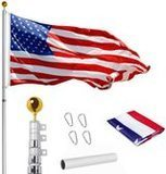 WeValor 20-Foot Telescoping Flagpole Kit