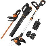 Worx PowerShare Cordless Edger, Hedge Trimmer, and Blower
